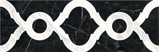 Бордюр Фрагонар наборный чёрный 30*9,9