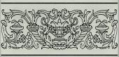 Декор Авеллино фисташковый 7,4*15