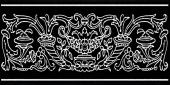Декор Авеллино черный 7,4*15
