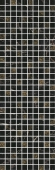 Декор Астория черный мозаичный 25*75