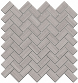 Декор Грасси серый мозаичный 31,5*30