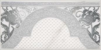Декор Фрагонар белый 7,4*15