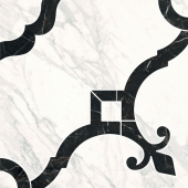 Декор Фрагонар наборный белый 1/4 розона 30*30