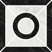 Декор Фрагонар наборный чёрный 9,9*9,9