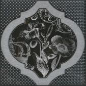 Декор Фрагонар чёрный 15*15