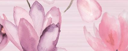 Декор Flora розовый 50*20