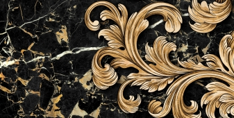 Декор Saint Laurent черный 30*60