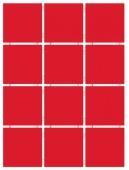 Конфетти алый блестящий, полотно 30*40 из 12 частей 9,9*9,9