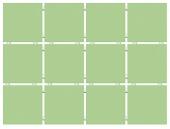 Конфетти зеленый (матовый), полотно 30*40 из 12 частей 9,9*9,9