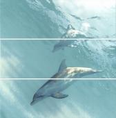 Панно Искья обрезной Дельфины 75*75