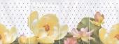 Панно Летний сад светлый 80*30 из 4 частей 20*30