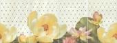 Панно Летний сад фисташковый 80*30 из 4 частей 20*30
