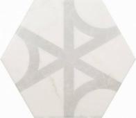 Плитка напольная CARRARA Hexagon Flow 17,5x20 см