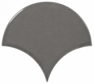 Плитка настенная SCALE Fan Dark Grey 10,6х12 см
