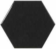Плитка настенная SCALE Hexagon Black 12,4х10,7 см