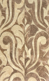 Плитка Saloni brown decor 01 30*50