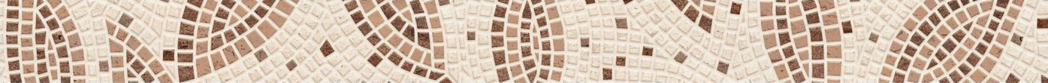 Фриз Travertine Mosaic коричневый 40*3