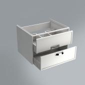Тумба CANALETTO белая матовая 60 см с 2 ящиками (подходит для раковин Buongiorno 60)