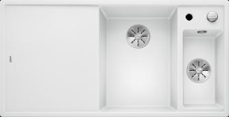 Мойка AXIA III 6 S SILGRANIT PuraDur белый чаша справа, разделочный столик ясень c кл.-авт. InFino Заказная позиция BLANCO 523466