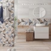 1064-0167 плитка настенная вестанвинд декор 1 натуральный LASSELSBERGER | LB Ceramica