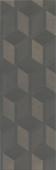 12144R Морандо серый темный обрезной 25*75 керамическая плитка