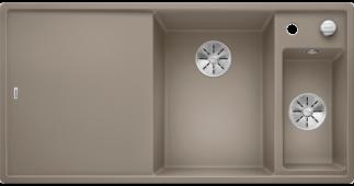 Мойка AXIA III 6 S SILGRANIT PuraDur серый беж чаша слева, разделочный столик ясень c кл.-авт. InFino® Заказная позиция BLANCO 524650