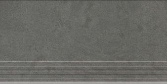 КЕРАМИКА БУДУЩЕГО Амба Ступень графит мат насечки MR 60x30 керамогранит