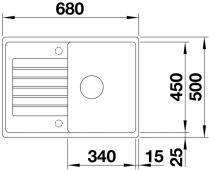 Мойка ZIA 45 S Compact SILGRANIT PuraDur темная скала  BLANCO 524722