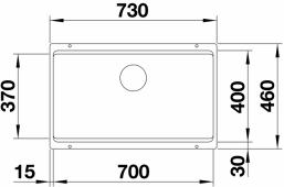 Мойка ETAGON 700-U SILGRANIT PuraDur жасмин  BLANCO 525172