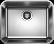 Мойка SUPRA 500-U нерж.сталь полированная с корзинчатым-вентилем   BLANCO 518205