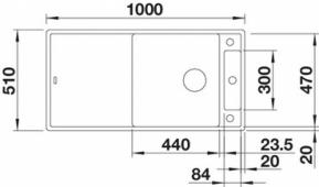 Мойка AXIA III XL 6 S SILGRANIT PuraDur черный, разделочный столик ясень c кл.-авт. InFino Заказная позиция BLANCO 525858