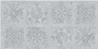 IDALGO Гранит Стоун Цемент Dec. Светло-серый SR 120 120x60 керамогранит
