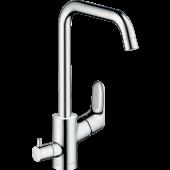Смеситель hansgrohe Focus E2 для кухонной мойки с запорным вентилем для посудомоечной машины, хром 31823000