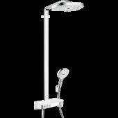 Душевая система hansgrohe Raindance Select E 300 3jet Showerpipe с термостатом, белый/хром 27127400