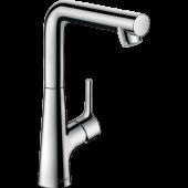 Смеситель hansgrohe Talis S для раковины с поворотным изливом и сливным гарнитуром, хром 72105000