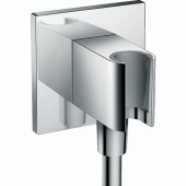 Шланговое подсоединение с держателем для душа hansgrohe Fixfit Porter Square 26486000