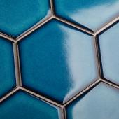 Кер. мозаика Hexagon big Deep Blue Glossy (JJFQ80048) 256х295х6