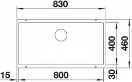 Мойка SUBLINE 800-U SILGRANIT PuraDur жасмин c отв.арм. InFino  BLANCO 523146