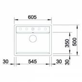 Мойка DALAGO 6-F SILGRANIT PuraDur антрацит с клапаном-автоматом (Заказная позиция) BLANCO 514773