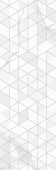 Вставка Statuario Vetro White W\DEC M 25x75 NR Glossy 1