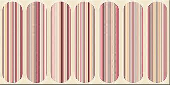 Плитка AZORI Boho Mocca 630x315 декор Geometry