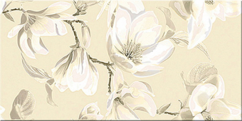 Плитка AZORI Boho Latte 630x315 декор Magnolia