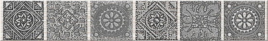 Плитка AZORI Grazia Grey 405x62 бордюр Nefertiti