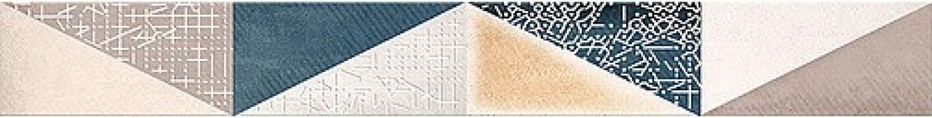 Плитка AZORI Eclipse 505x62 бордюр Indigo Mix