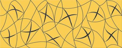 Плитка AZORI Vela Ochra 505x201 декор stella