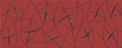 Плитка AZORI Vela Carmin 505x201 декор Stella