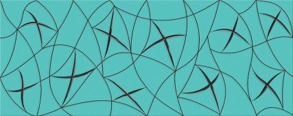 Плитка AZORI Vela Tiffani 505x201 декор Stella