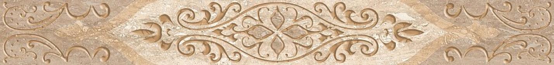 Плитка AZORI Ascoli 75x630 beige classico бордюр