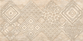Плитка AZORI Ascoli 315x630  beige geometria декор