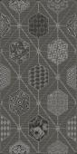 Плитка AZORI Devore 315x630  gris geometria декор